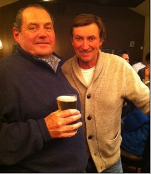 Gretzky poses with local Jimmy Mirenda.