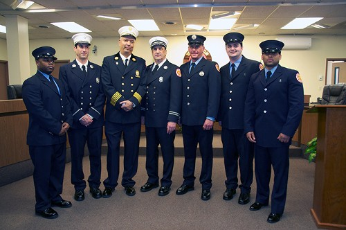 Montclair Fire Chief Kevin Allen is pictured third from the left.