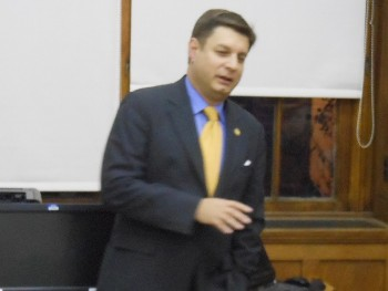 Montclair First Ward Councilor William Hurlock at his February 27 community meeting