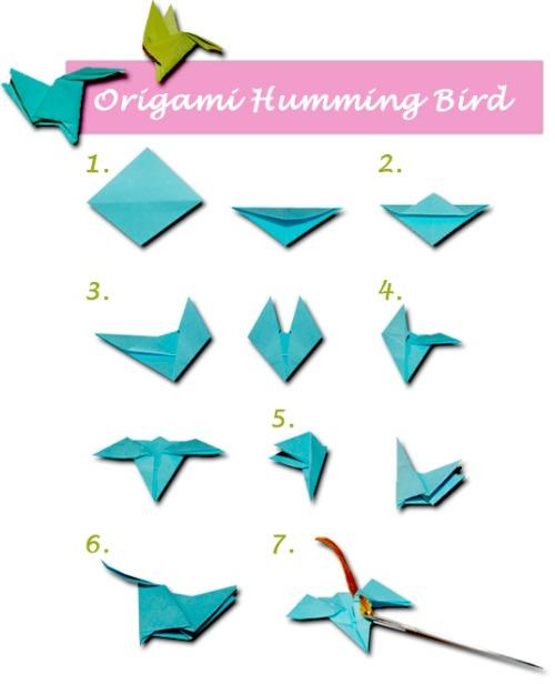 Origami Hummingbird Necklace