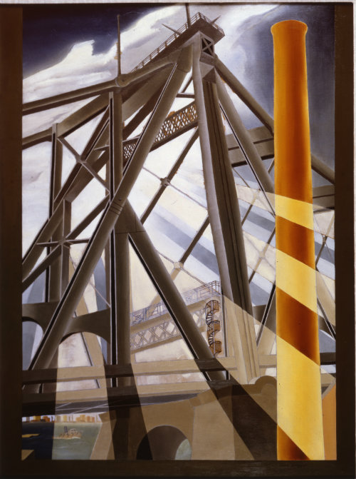 Elsie Driggs (1898-1992)  Queensborough Bridge, 1927  Oil on canvas  Montclair Art Museum: Museum purchase; Lang Acquisition Fund  1969.4