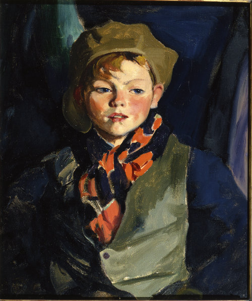 Robert Henri (1865-1929)  Jimmie O'D, ca.1925  Oil on canvas  Montclair Art Museum: Museum purchase; Picture Buying Fund  1926.1