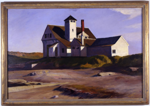 Edward Hopper (1882-1967)  Coast Guard Station, 1929  Oil on canvas  Montclair Art Museum: Museum purchase; Picture Buying Fund  1937.21