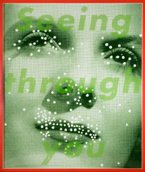 Barbara Kruger (b. 1945)  Untitled (Seeing Through You), 2004-05  Color photograph  Montclair Art Museum: Museum purchase; Acquisition Fund  2006.11  ©Barbara Kruger  Image Courtesy of Mary Boone Gallery, New York.