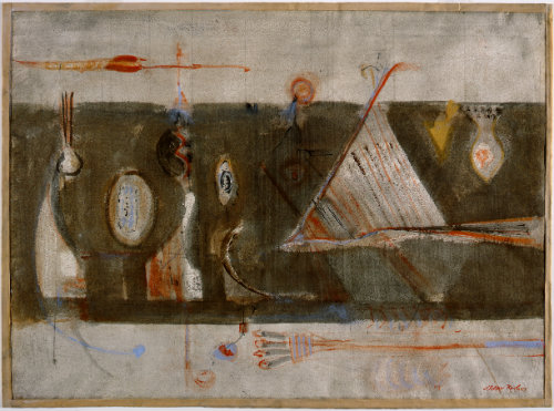 Mark Rothko (1903-1970)  Implements of Magic, ca.1945  Watercolor on paper  Montclair Art Museum: Museum purchase; partial gift of Charles and Jeannette Gehrie and Acquisition Fund  1986.139  © 2005 Kate Rothko Prizel & Christopher Rothko / Artists Rights Society (ARS), New York