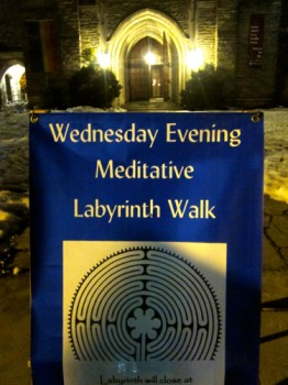 outside labyrinth sign