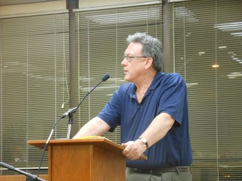 Montclair Business Improvement District director Luther Flurry speaks at the June 23 Montclair Planning Board meeting.