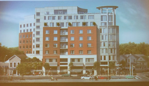 The proposed MC Hotel facing Bloomfield Avenue