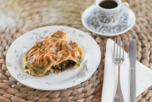 Simit House's spinach pie