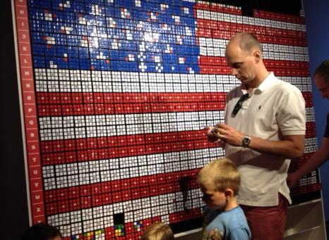 Rubik's Cube American Flag