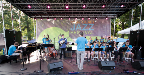 John Scofield playing with the Jazz House Kids' Dynasty Big Band, directed by Mike Lee.