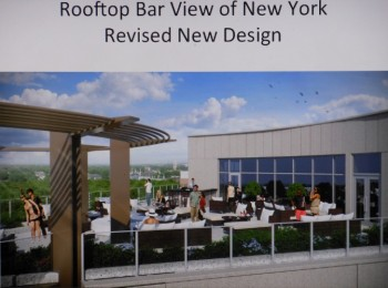 The proposed MC Hotel's rooftop bar, after architectural revisions