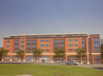 The proposed Montclarion II apartemnt building along Bloomfield Avenue, after architectural revisions