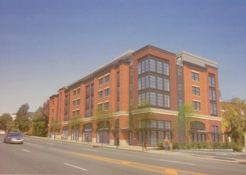 The proposed Montclarion II apartment building at Bloomfield Avenue and Pine Street, after architectural revisions