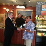 Democratic Congressional Candidate Mark Dunec Campaigns in Montclair
