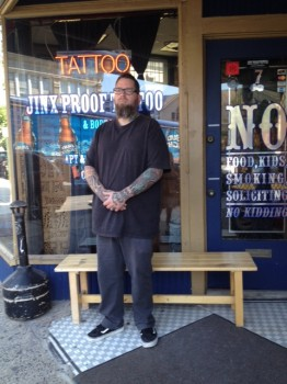 "Edward ""Ox"" Occhipinti, owner of Jinx Proof Tattoo and Piercing"