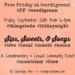 Free Friday: Sips, Sweets and Songs at Montclair's {verdigreen}