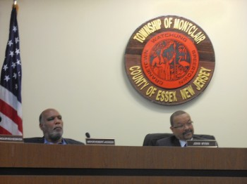 Montclair Mayor Robert Jackson (left) and Montclair Planning Board Chairman John Wynn at the October 27 Planning Board meeting