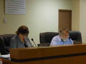 Janice Talley and Ira Karasick at the October 16 Montclair Historic Preservation Commission meeting