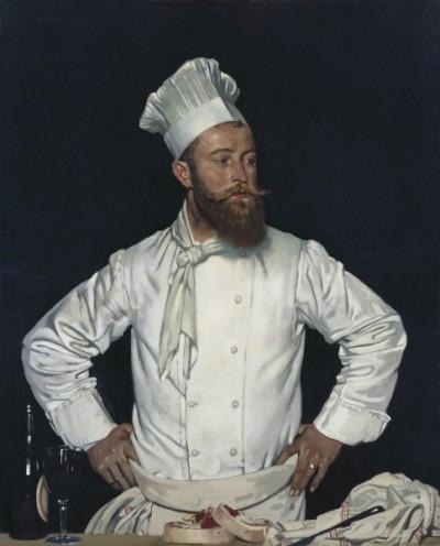 William Orpen Le Chef de l'Hôtel Chatham, Paris (Credit: Wikipedia)