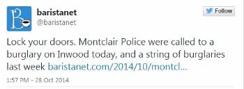 Montclair Police Apprehend Inwood Avenue Burglary Suspect