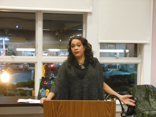 Montclair Fourth Ward Councilor Renée Baskerville at her November 25 community meeting