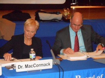 Montclair Schools Superintendent Penny MacCormack and Montclair Board of Education President David Deutsch