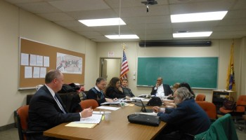 The Montclair Township Council at its march 3 conference meeting.  Councilors Rich McMahon and Sean Spiller arrived later.