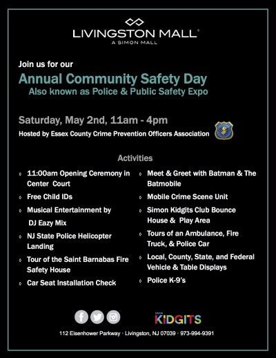 Community Safety Day at the Livingston Mall