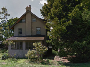 327 Grove Street, seen from its side facing Prescott Avenue.  The abandoned house, which has caused discontent among neighbors, is one of many abandoned properties Montclair is trying to deal with.  Image courtesy of Google.