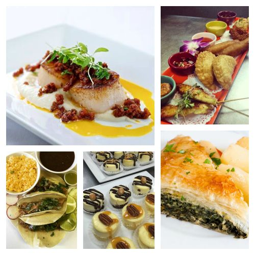 Delicious offerings form Yellow Plum, Spice Thai Cuisine, Stamna Greeek Taverna, Anthony's Cheesecake, and El Matador
