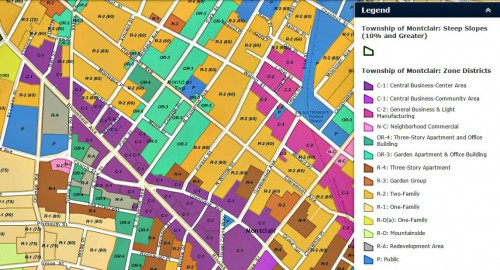 montclair zoning map