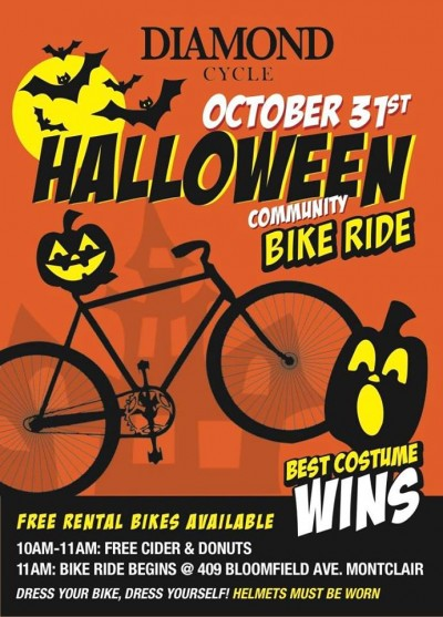 saturday october 31 ride your bikes around montclair in costume on halloween morning diamond cycle 409 bloomfield avenue montclair is hosting a - Why Is Halloween On The 31st Of October