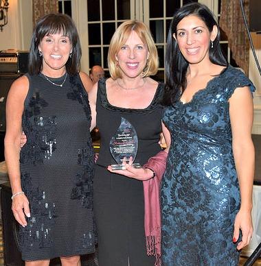 Christina Baker Kline of Montclair (center) was honored.