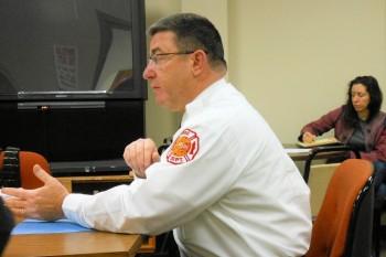 Montclair Fire Chief John Herrmann at the November 24 Montclair Township Council meeting