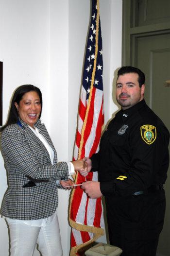 Nicole Zeuner with PBA President Joseph Uliano