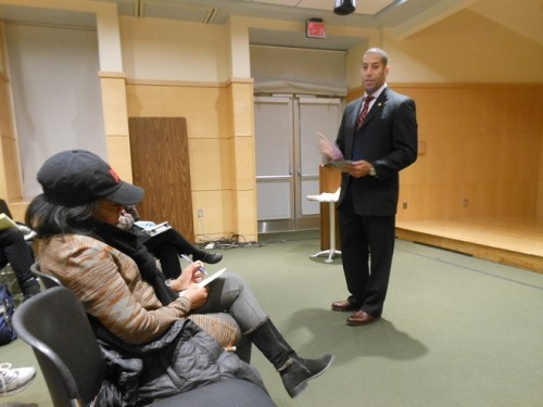 Third Ward Councilor Sean Spiller with constituents at his November 23 community meeting