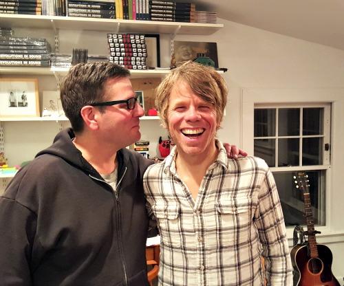 Evan Cutler & Warren Zanes. (Photo credit:  Lucian Zanes)
