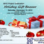 Shop! Holiday Gift Bazaar for MHS Project Graduation 12/12