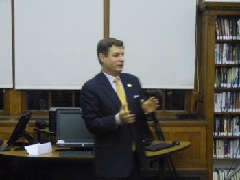 Montclair First Ward Councilor William Hurlock at his February 3 community meeting