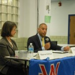 Councilor Sean Spiller, Maureen Edelson Debate Issues At League of Women Voters Forum