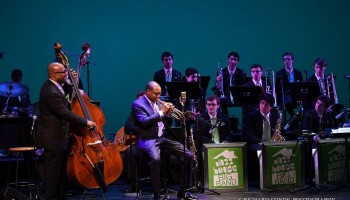 Christian McBride, Wynton Marsalis and the Jazz House Big Band performing at Inside the Jazz Note 2016. Richard Conde Photography.