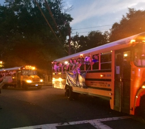 Project Graduation leaves Montclair to cheers all over town. Photo: Jen Grisafi