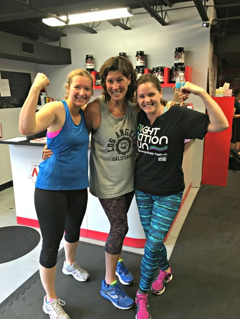 Annette, (center) with her Max workout friends.