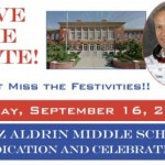 Save the Date: Dedication & Celebration of Buzz Aldrin Middle School