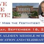 Save the Date: Dedication & Celebration of Buzz Aldrin Middle School