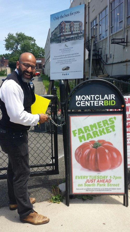 Montclair Center's Israel Cronk at site of new Farmers Market,