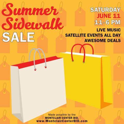 Montclair Center Summer Sidewalk Sale