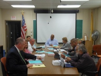 The Montclair Township Council, minus Fourth Ward Councilor Renée Baskerville