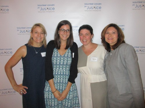From left: Karen Sacks, VLJ executive director; Jessica Limbacher, VLJ staff attorney; Gemma Giantomasi, VLJ Generation Now Young Professionals Group chair; and Marge Chertok, lawyer and 11-year VLJ volunteer.
